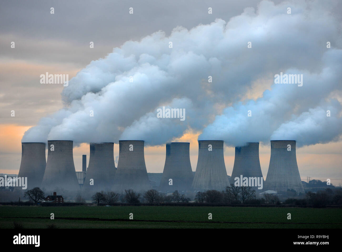Ratcliffe on Soar Coal Power Station Nottingham UK - Stock Image