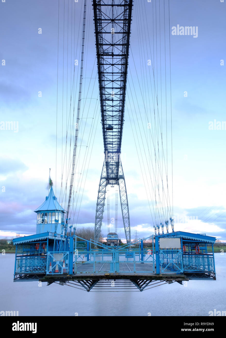 Newport Transporter Bridge over the River Usk, South Wales - Stock Image