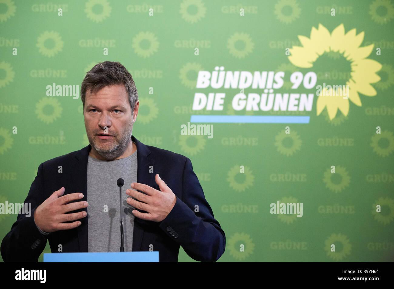05.11.2018, Berlin, Deutschland - Robert Habeck, Bundesvorsitzender Buendnis 90/DIE GRUENEN. 00R181105D215CARO.JPG [MODEL RELEASE: NO, PROPERTY RELEAS Stock Photo