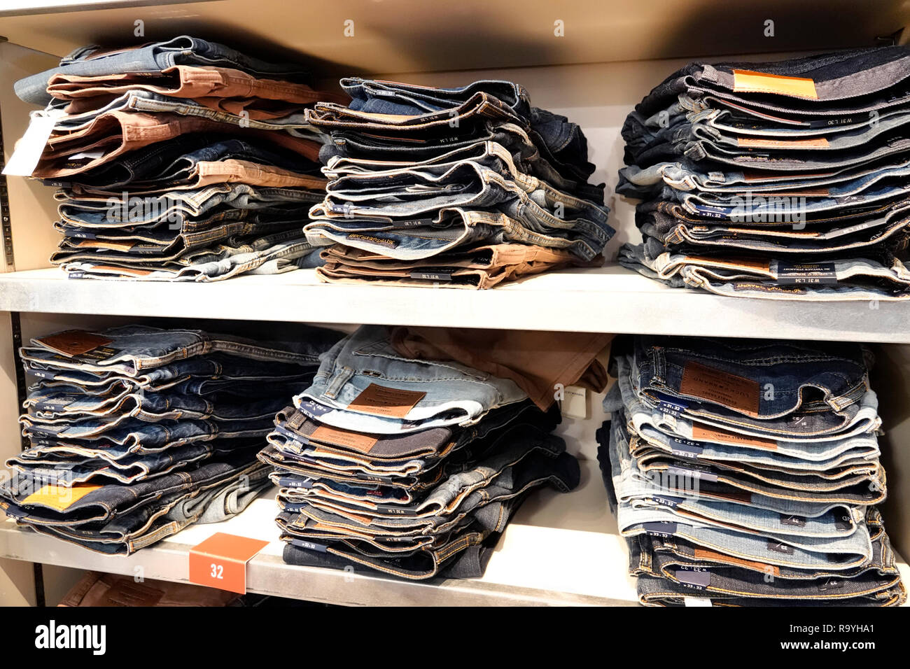 4b5aaa5bd41 Fort Ft. Lauderdale Florida Pembroke Pines Shops At Pembroke Gardens mall  shopping Lucky Brand Jeans inside folded pants