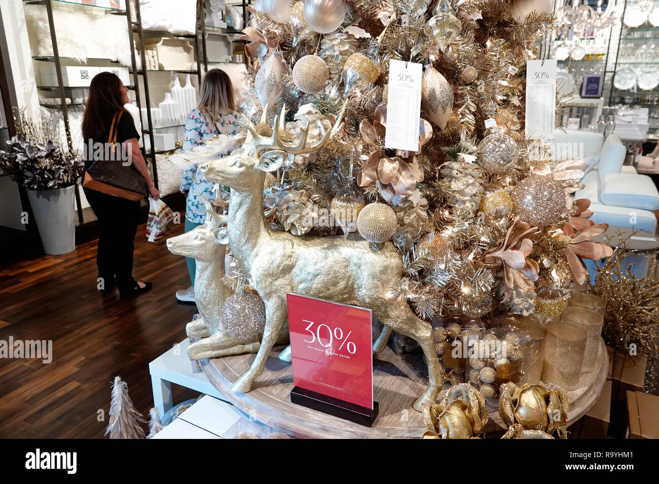 Fort Ft. Lauderdale Florida Pembroke Pines Shops At Pembroke Gardens mall shopping Z Gallerie inside home decor display sale promotion 30% - Stock Image