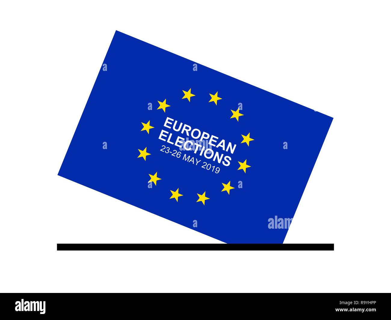 European Parliament Elections 23-26 May 2019 - Illustration Pattern - Stock Image
