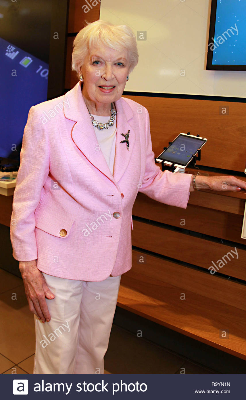 EDITORIAL USE ONLY File photo dated 09/09/2014 of June Whitfield attending the EE Techy Tea Party at Westfield London Shopping Centre, the actress has died at the age of 93, her agent has confirmed. Stock Photo