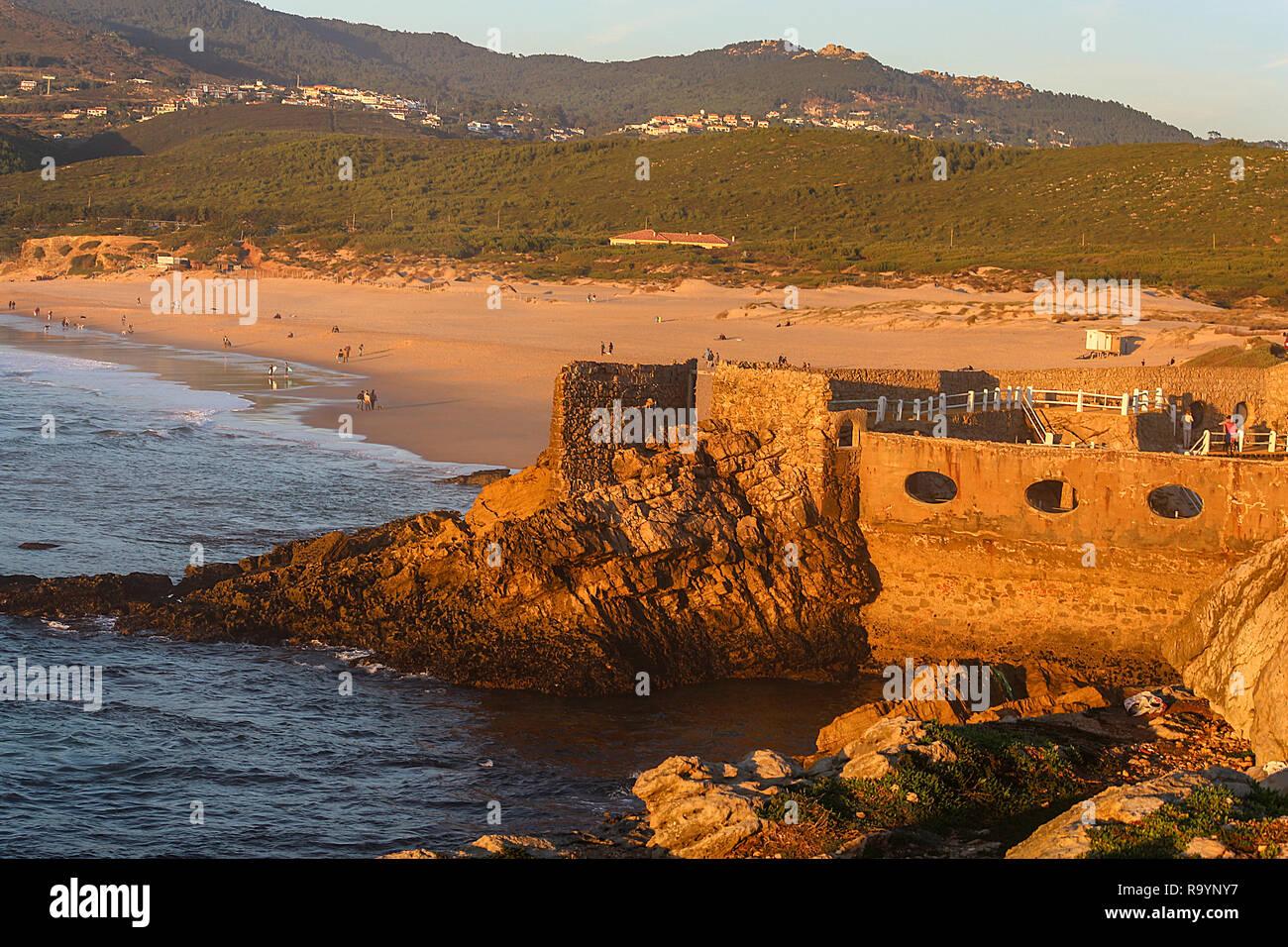 Guinho beach, a beautiful beach in Cascais, near Lisbon Stock Photo