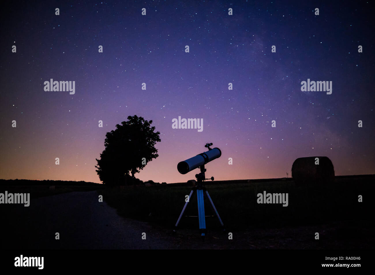 Look in the stars - Stock Image