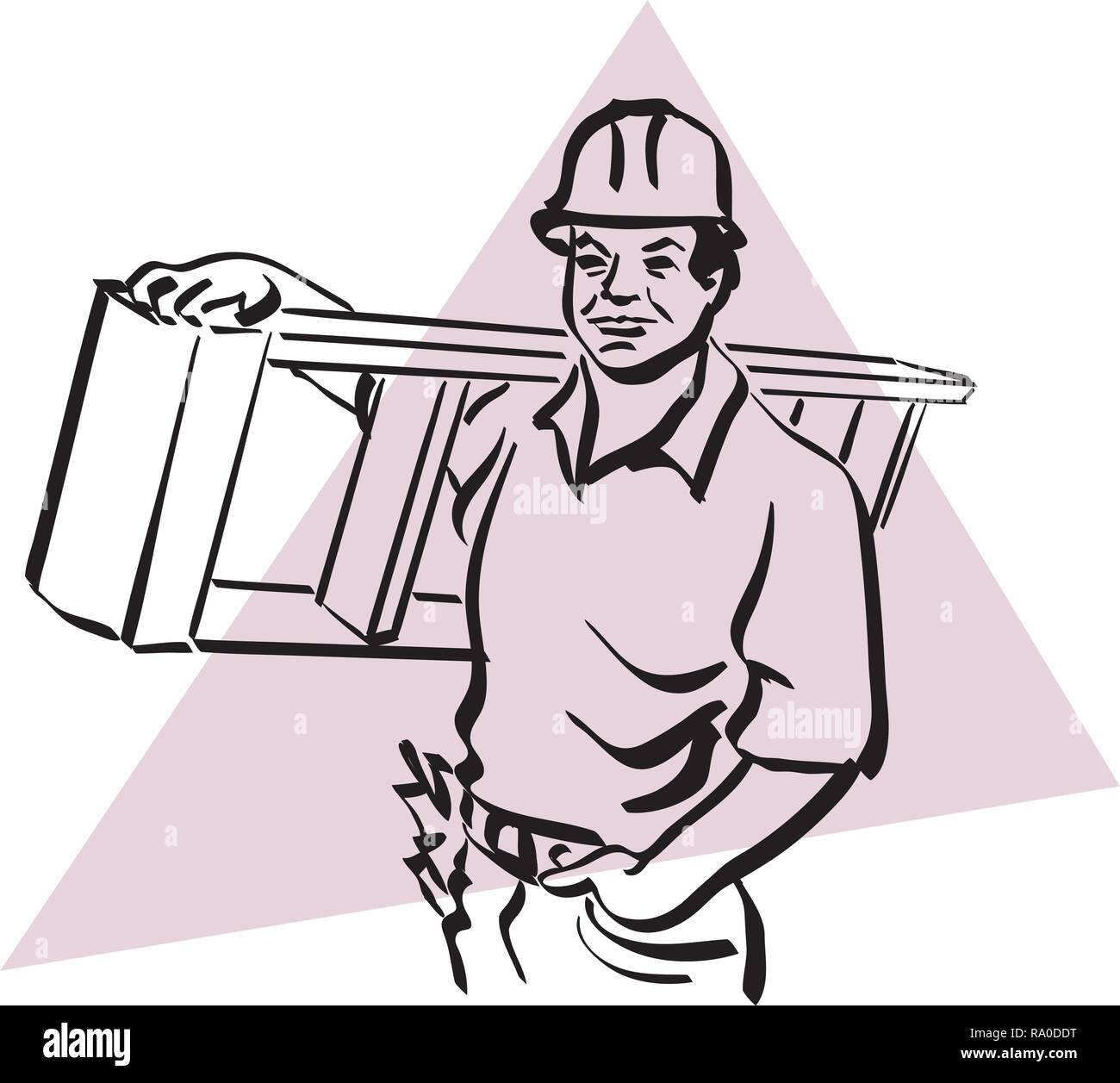 Illustration of a construction worker to work Stock Vector