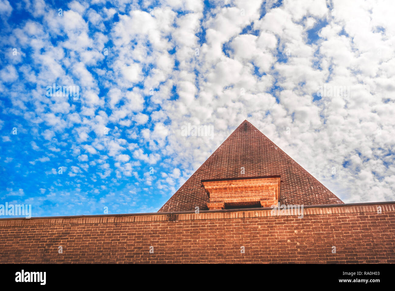 pyramid sky background cloudscape travel in egypt - Stock Image