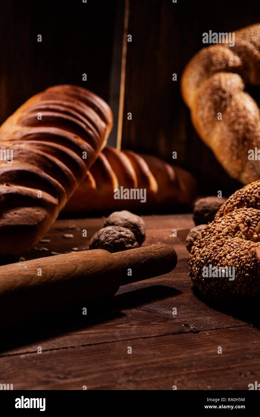 Bread for Breakfast - Stock Image