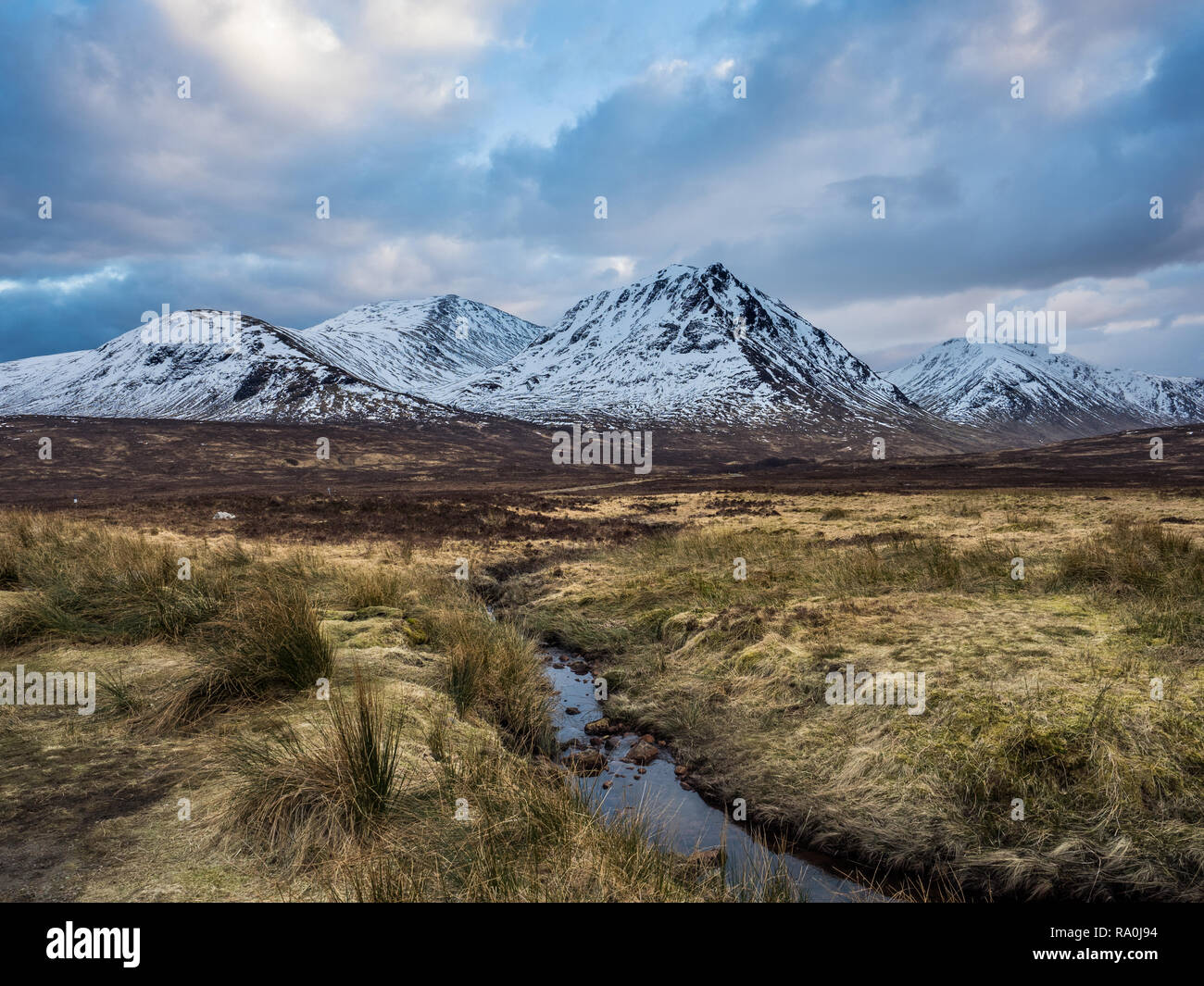 A dramatic sky in the Scottish Highlands, Winter 2018 - Stock Image