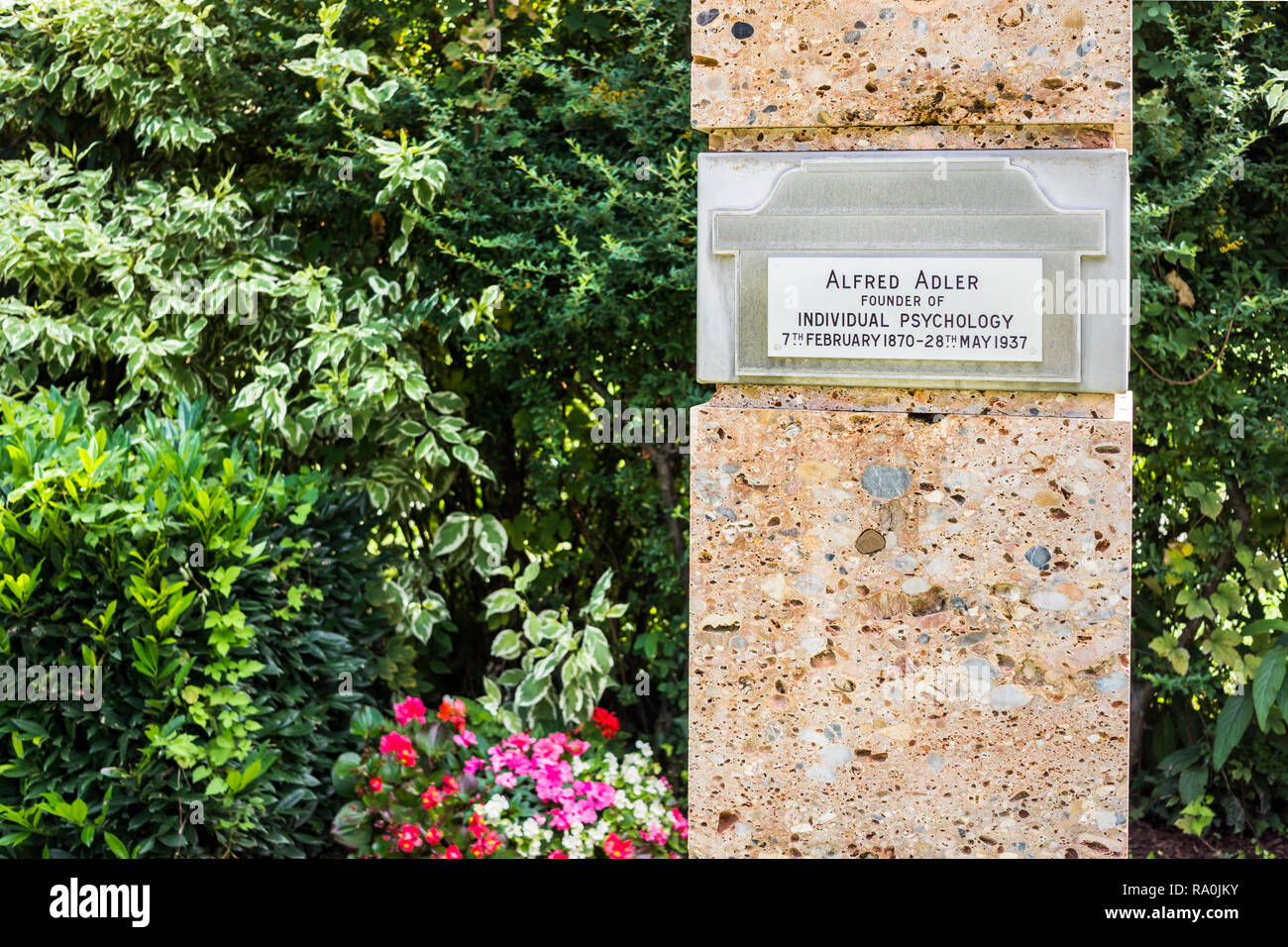 gravesite of austrian psychotherapist and founder of the school of individual psychology Stock Photo