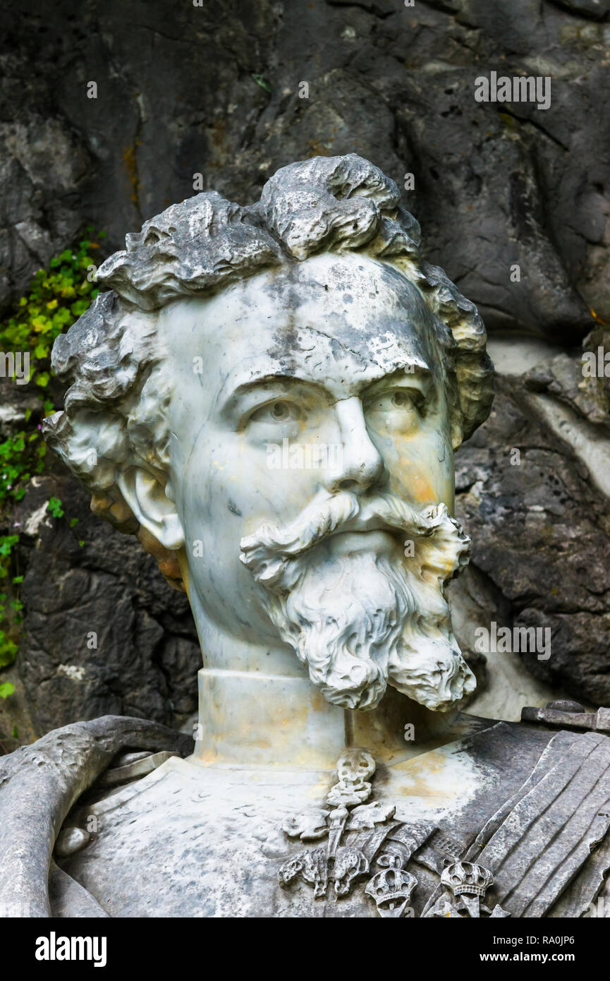 monument showing ludwig II of bavaria - Stock Image