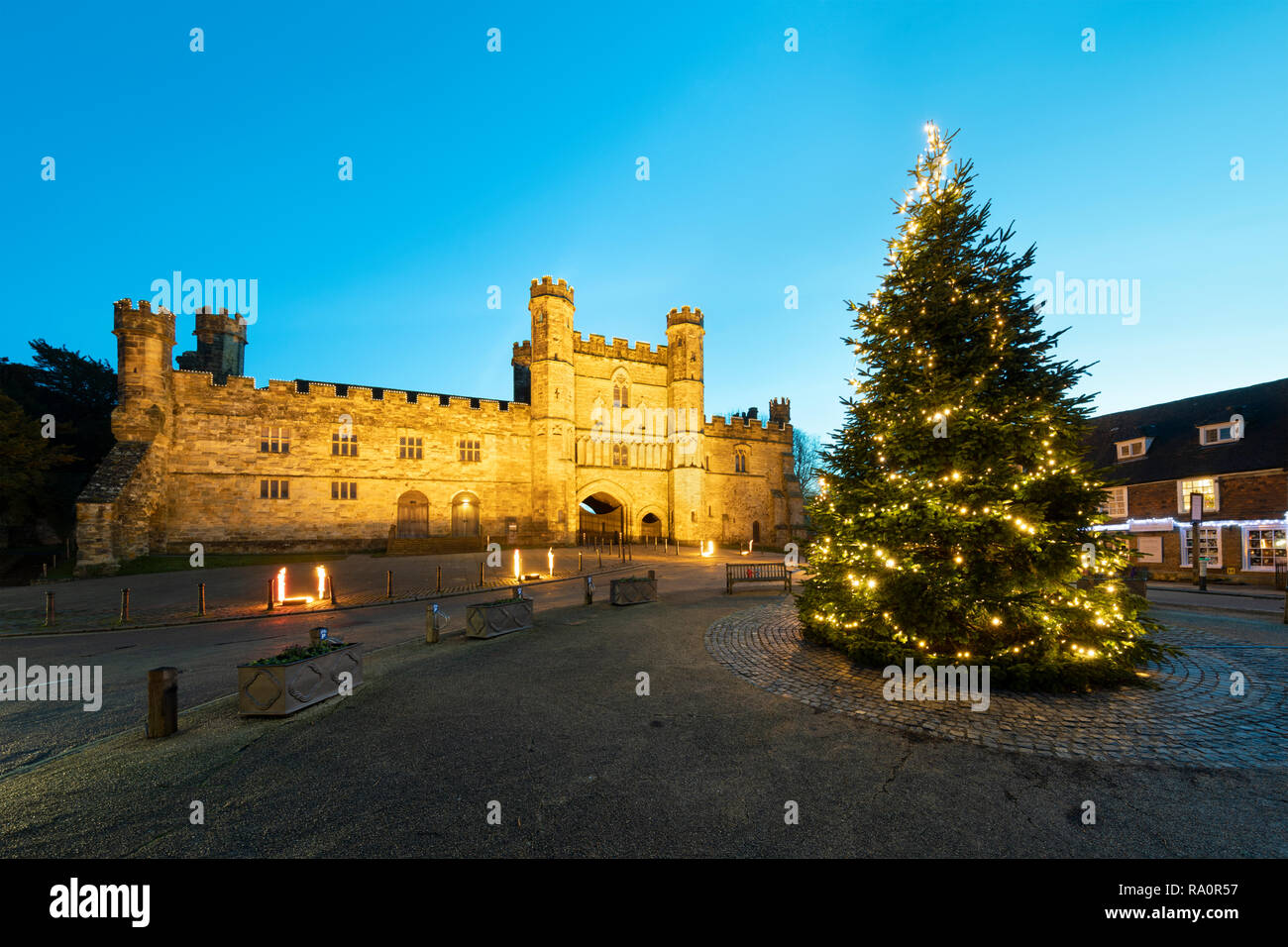 United Kingdom Christmas.Battle Abbey And Christmas Tree Battle East Sussex