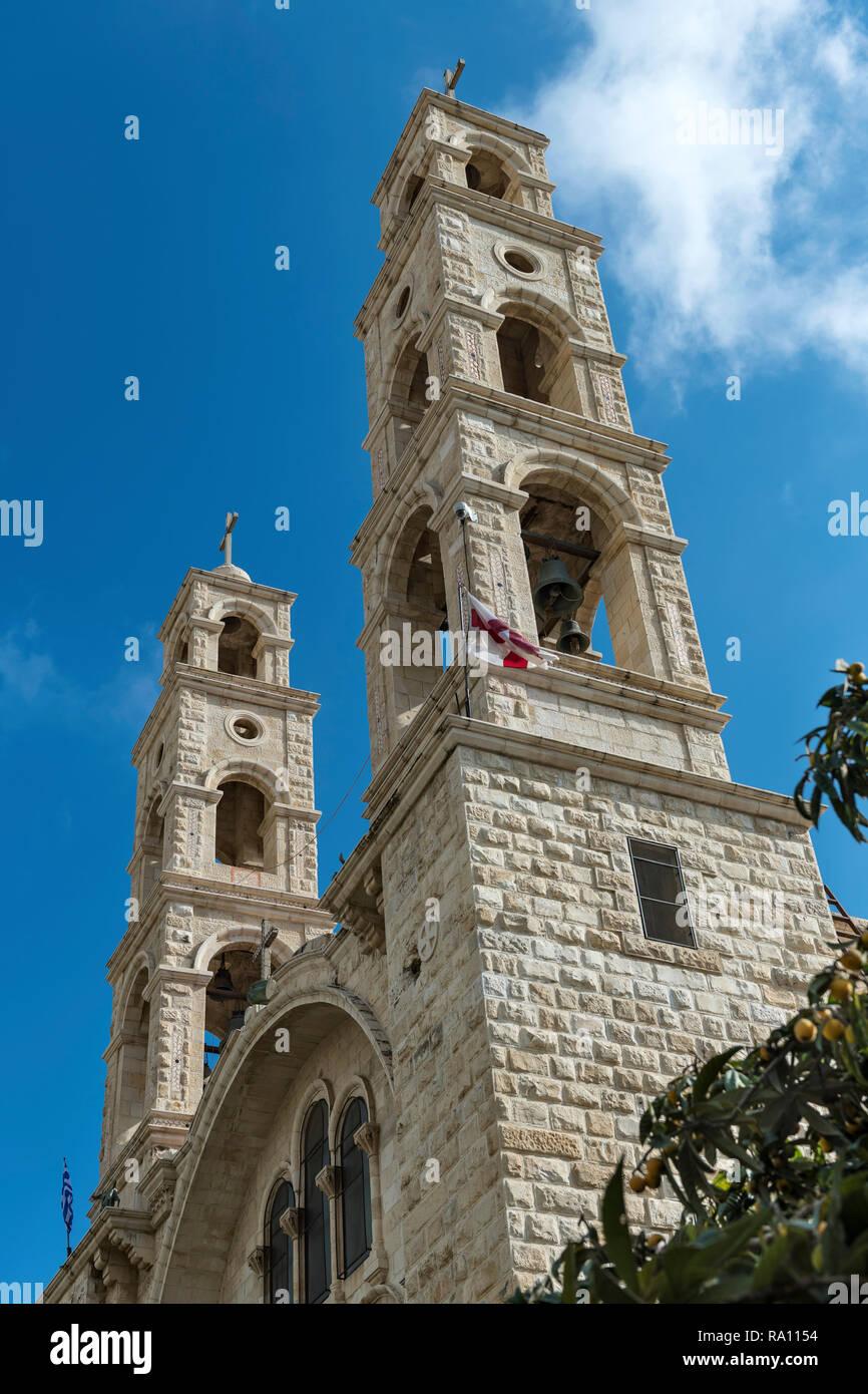 The Greek Orthodox St. Photini Church at Bir Ya'qub. Nablus. Palestine - Stock Image