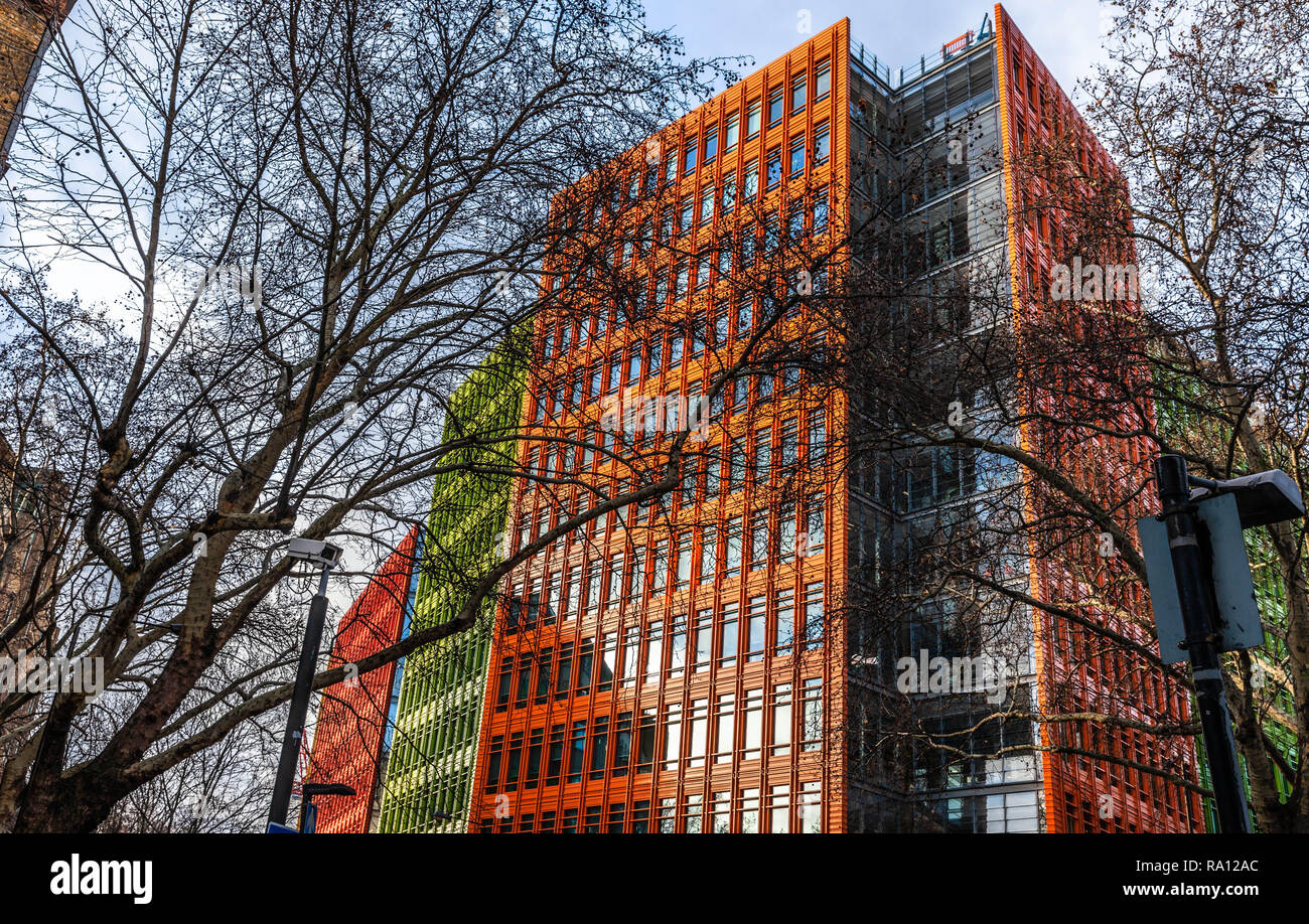 Central Saint Giles development, St. Giles High Street, Central London, England, UK. - Stock Image