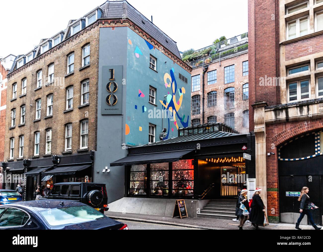 Wardour Street, Soho, London, England, UK. - Stock Image