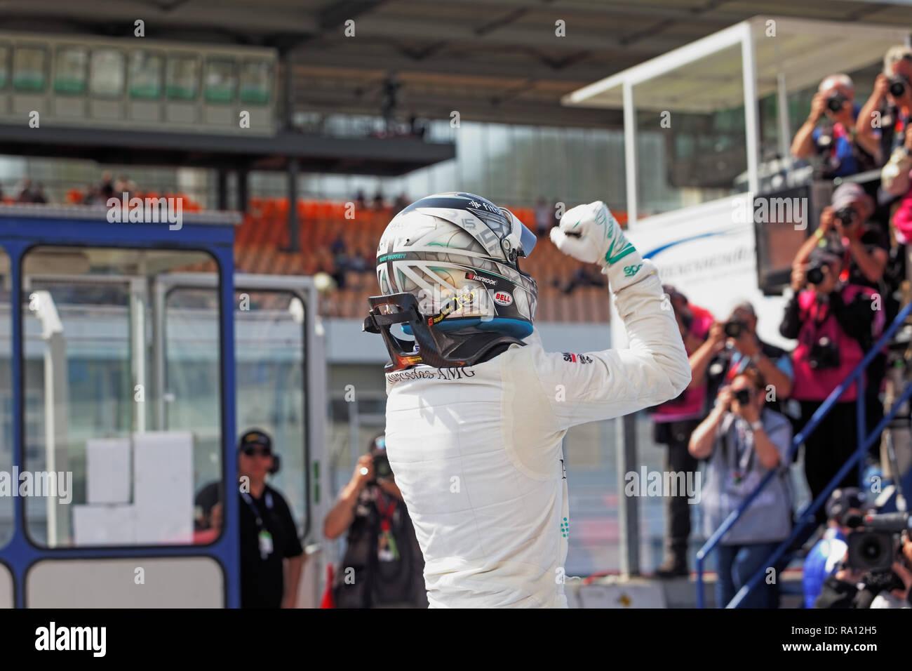 Garry Paffett, GBR, Mercedes AMG Petronas, Rennen 1, Hockenheim, 2018 - Stock Image