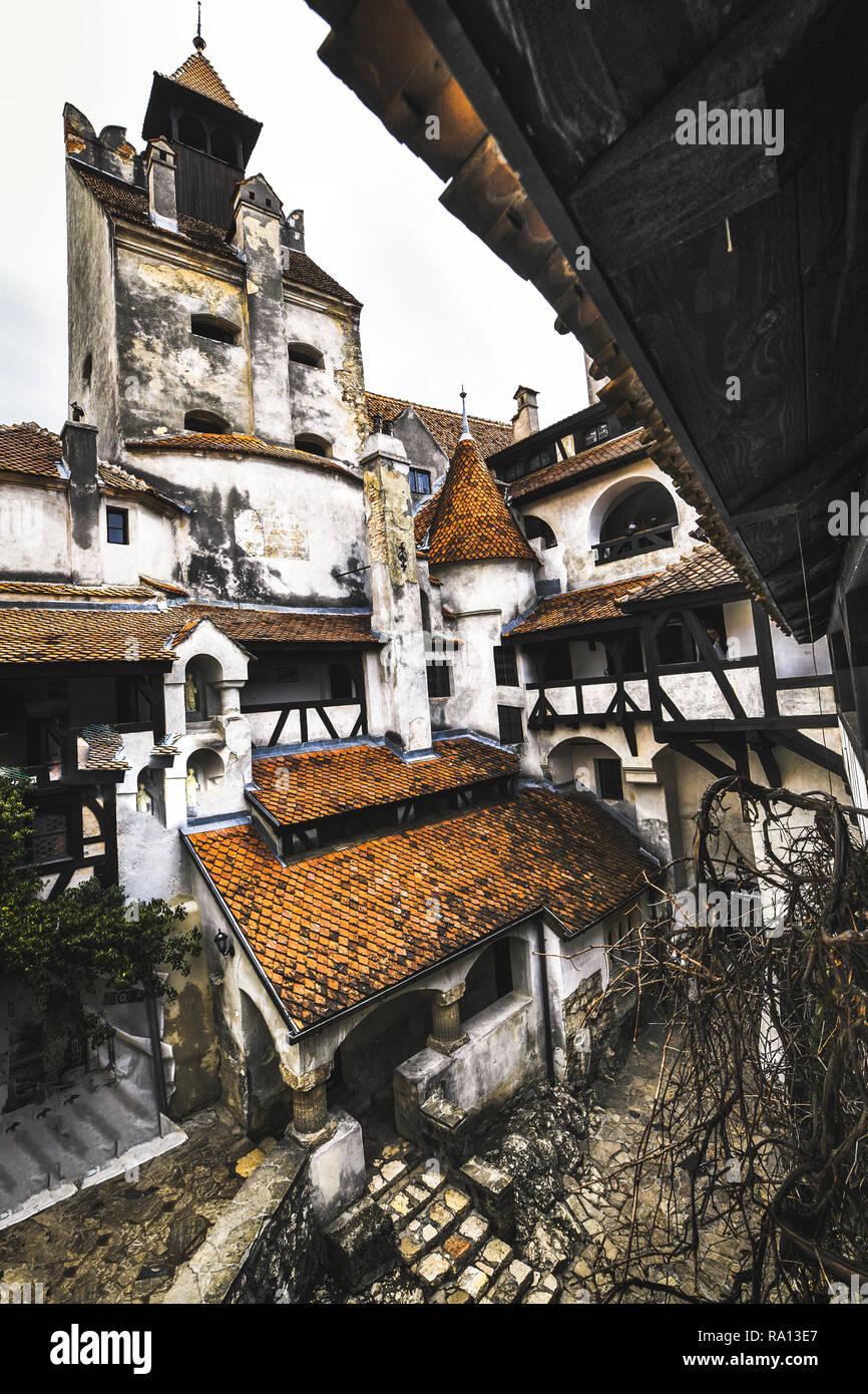 Bran Castle Where Vlad Dracul Used Live Romania Stock Photo - Live-bran-castle-pictures