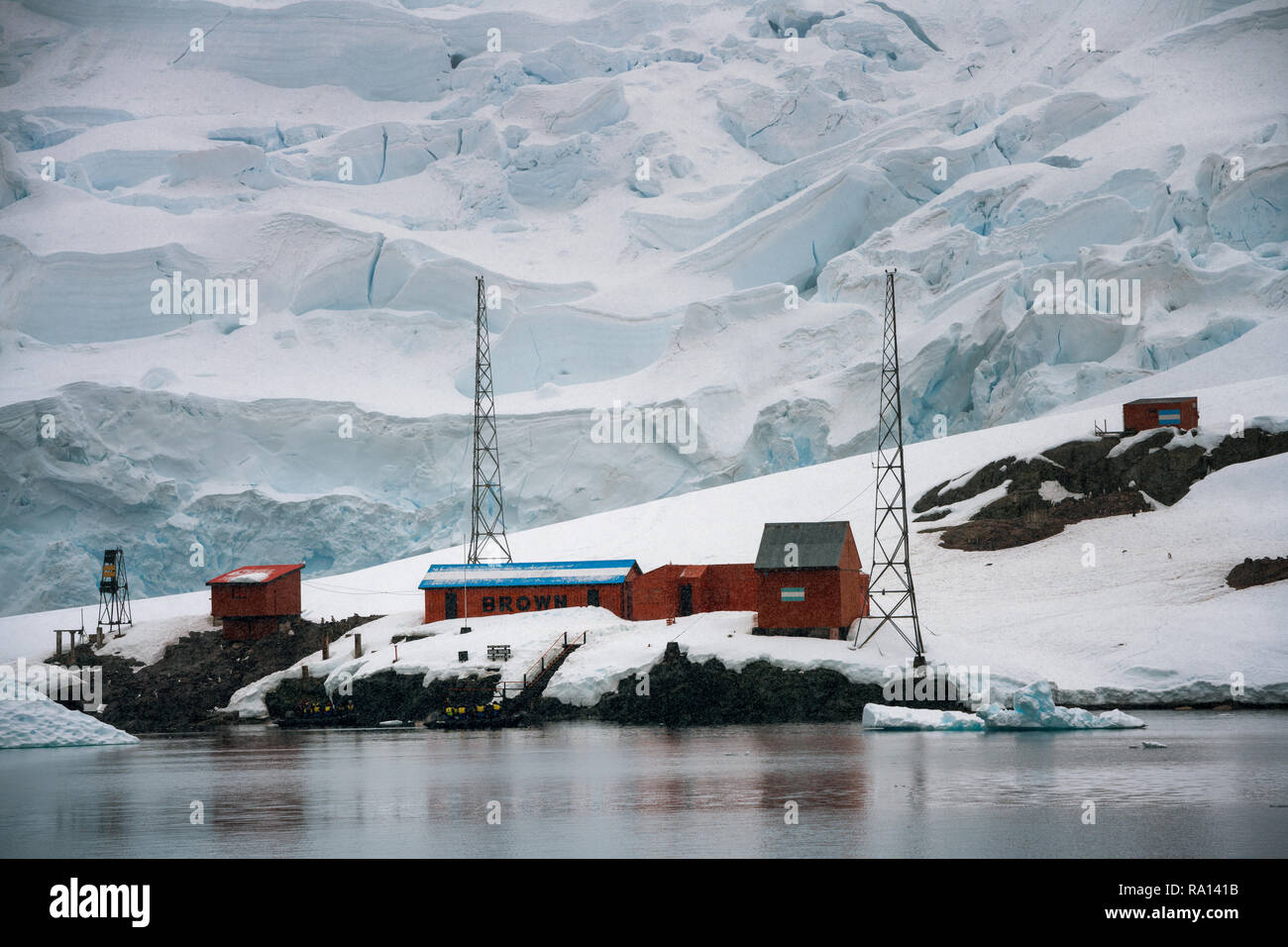 Argentinian Brown Station in Antarctica - Stock Image