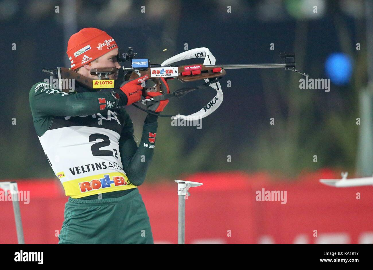 firo: 29.12.2018 Biathlon, JOKA Biathlon on Schalke, Benedikt Doll, Germany, | usage worldwide - Stock Image