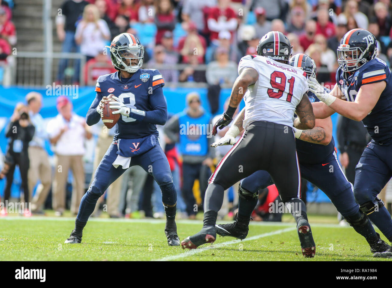 Charlotte NC USA 29th Dec 2018 Virginia Cavaliers Quarterback