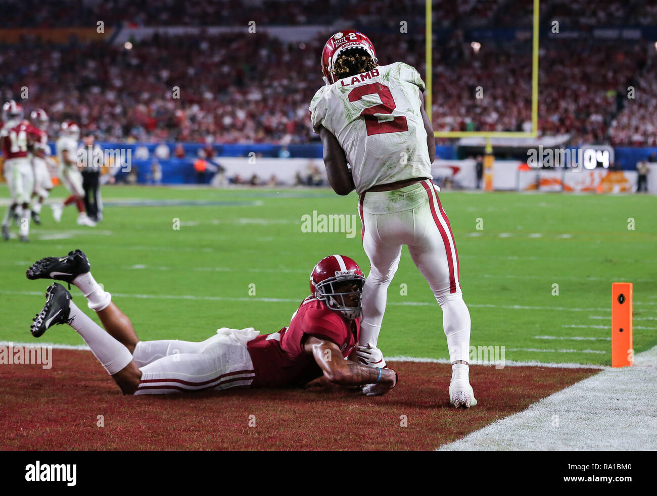Miami Gardens Florida Usa 29th Dec 2018 Oklahoma Sooners Wide