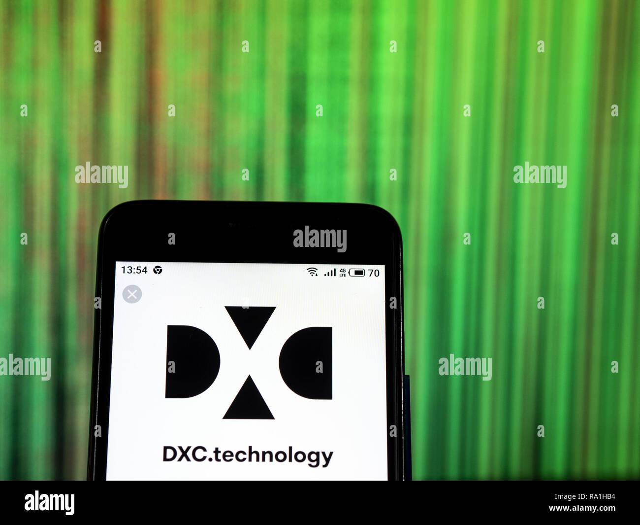 Kiev, Ukraine  29th Dec, 2018  DXC Technology Company logo