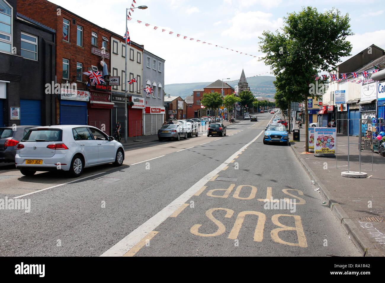 Strassenszene, Shankill Road, Belfast, Nordirland  (nur fuer redaktionelle Verwendung. Keine Werbung. Referenzdatenbank: http://www.360-berlin.de. © J - Stock Image