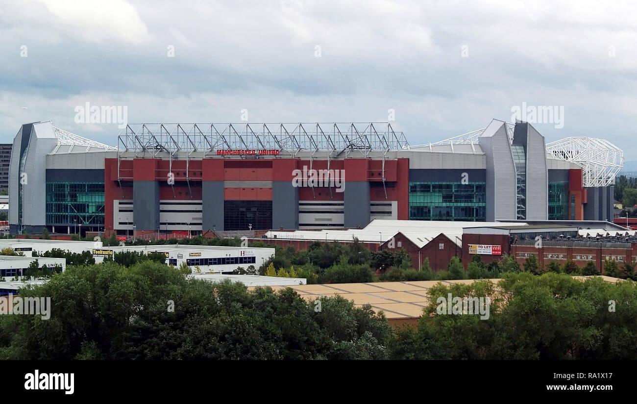 Old Trafford home of Manchester United taken from the IWM North - Stock Image