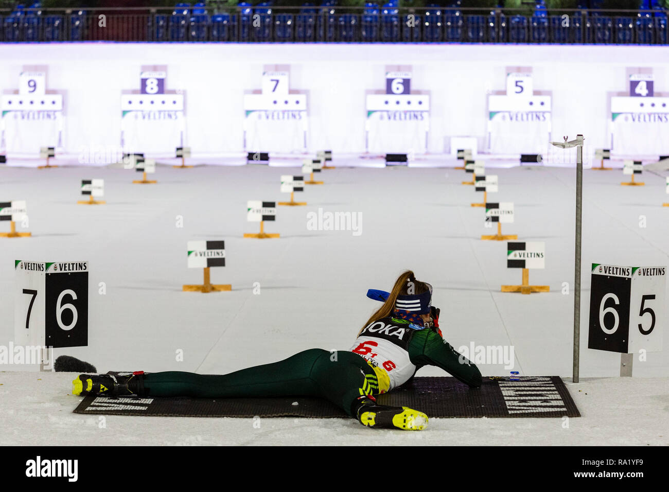 Vanessa Voigt, WSV Rotterode. The German Team Challenge takes place during the JOKA Biathlon WTC auf Schalke featuring young German biathlethes. - Stock Image