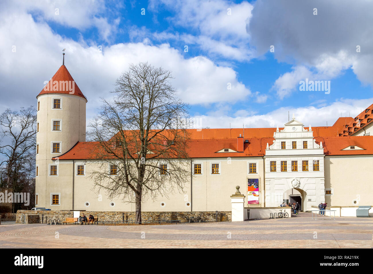 Castle Freudenstein, Freiberg, Germany - Stock Image