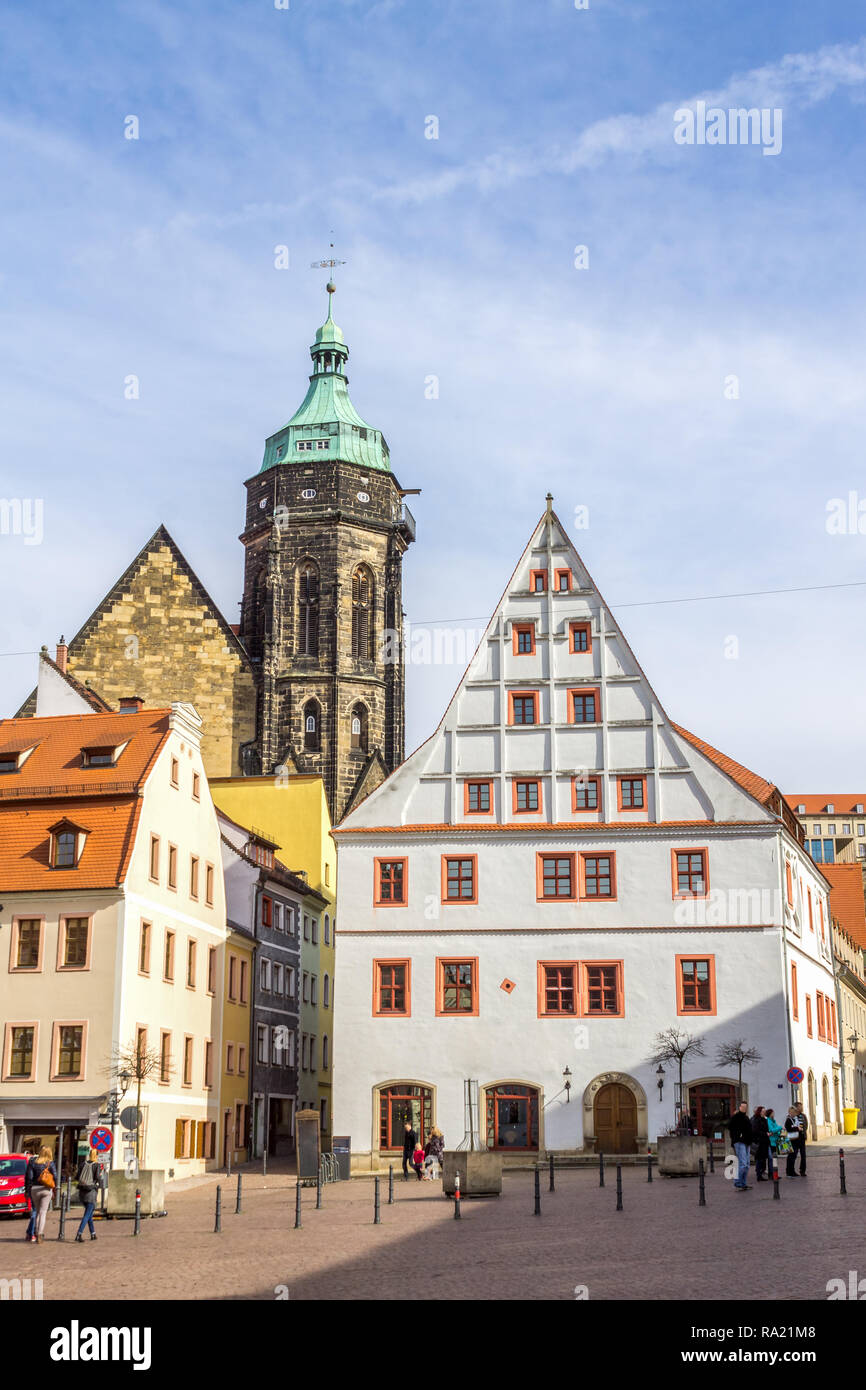 Market, Pirna, Germany - Stock Image