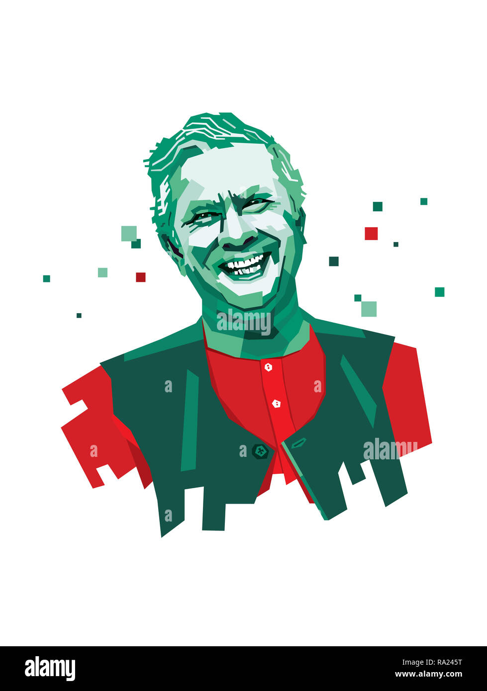 October 20, 2006: A vector illustration of a portrait of Nobel Laureate, Microfinance, and Social Business Pioneer Muhammad Yunus. - Stock Image