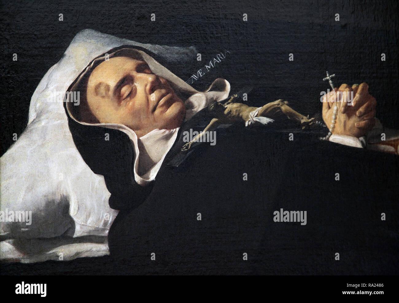 Saint Simón de Rojas 1552 – 1624.a painting by the artist Diego Velazquez 1599-1660 - Stock Image