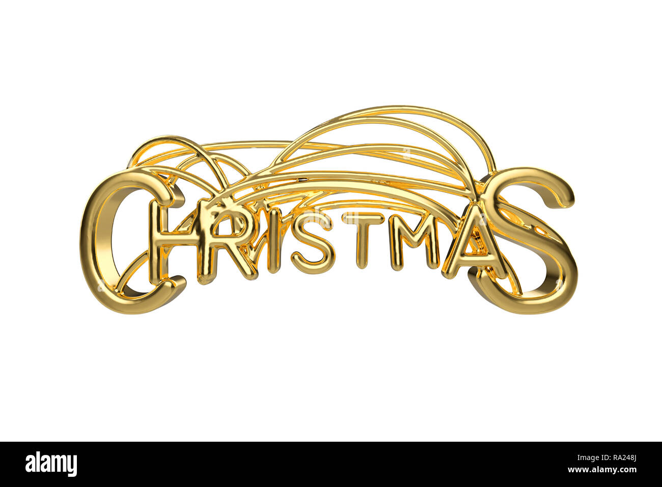 Christmas Elegant Golden Lettering Word With Letters Bound