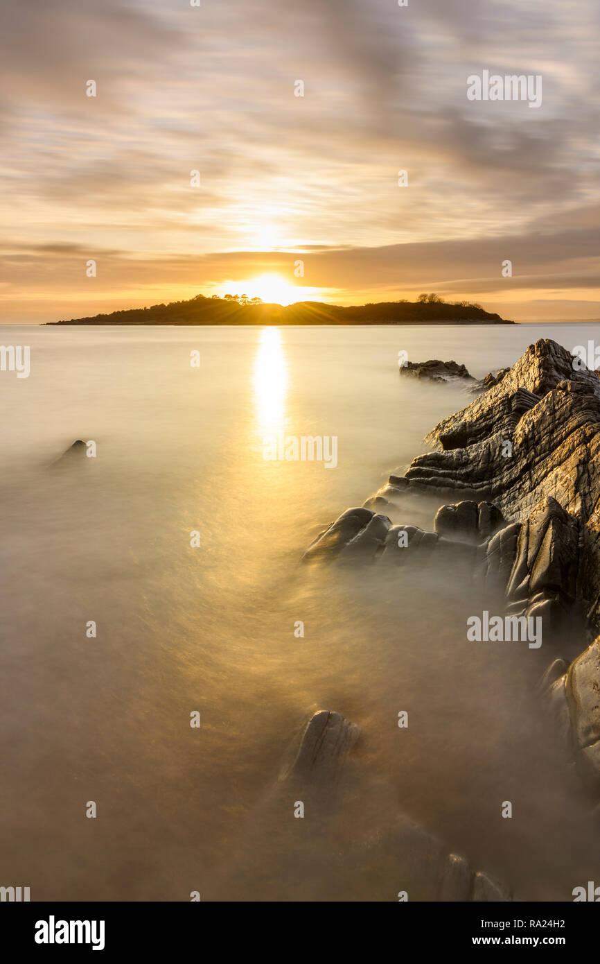 Ardwall Island from Carrick shore, Dumfries & Galloway, Scotland - Stock Image