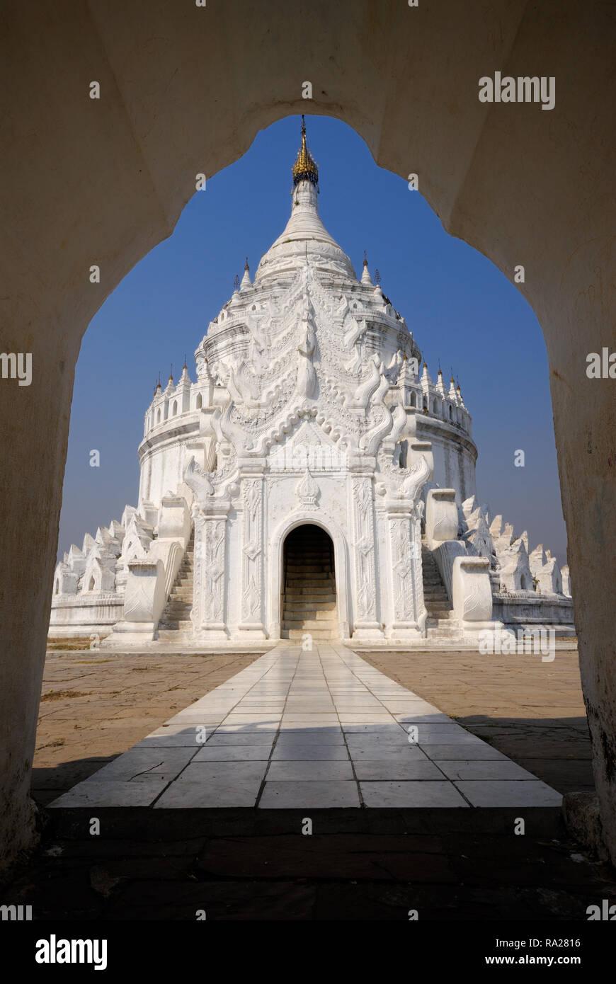 Hsinbyume Pagoda,Mandalay, Mingun - Stock Image
