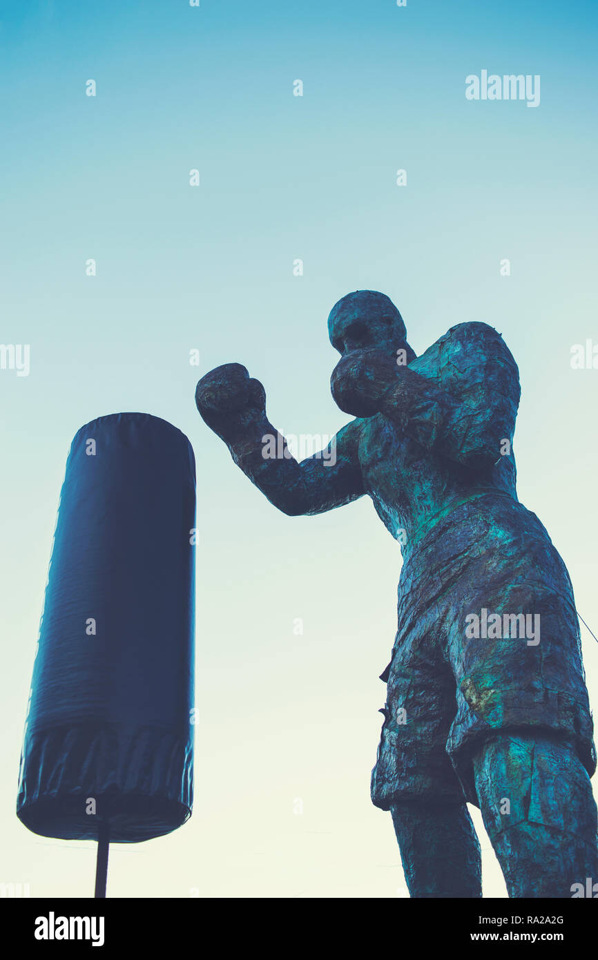 Statue of a Boxer - Stock Image