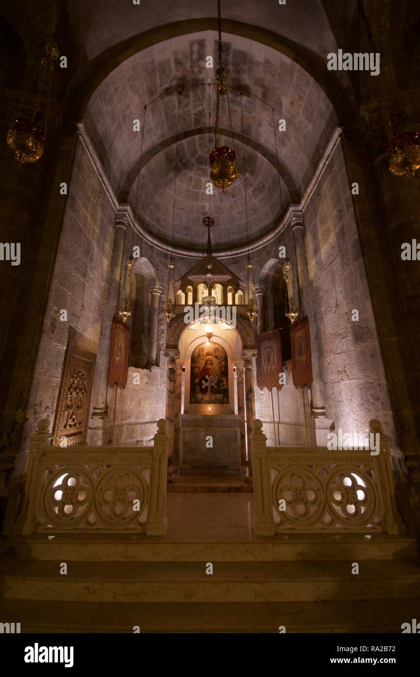 Chapel of the Division of the Raiment, Church of Holy Sepulchre, Jerusalem - Stock Image