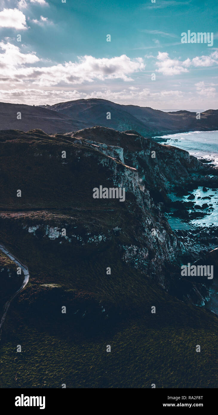 Aerial photos of Croyde and Bull Point in Devon - Stock Image