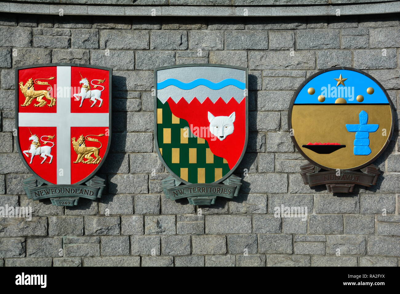 The Coat Of Arms Of Canada Stock Photos & The Coat Of Arms