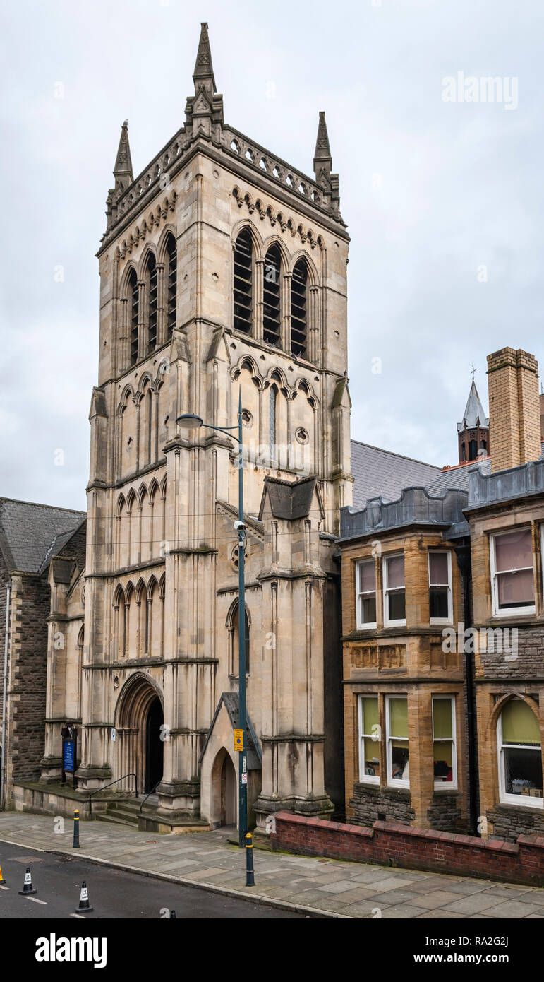 Stow Hill, Newport, South Wales, UK. St Mary's Church (R.C.) was built in 1839. Stock Photo