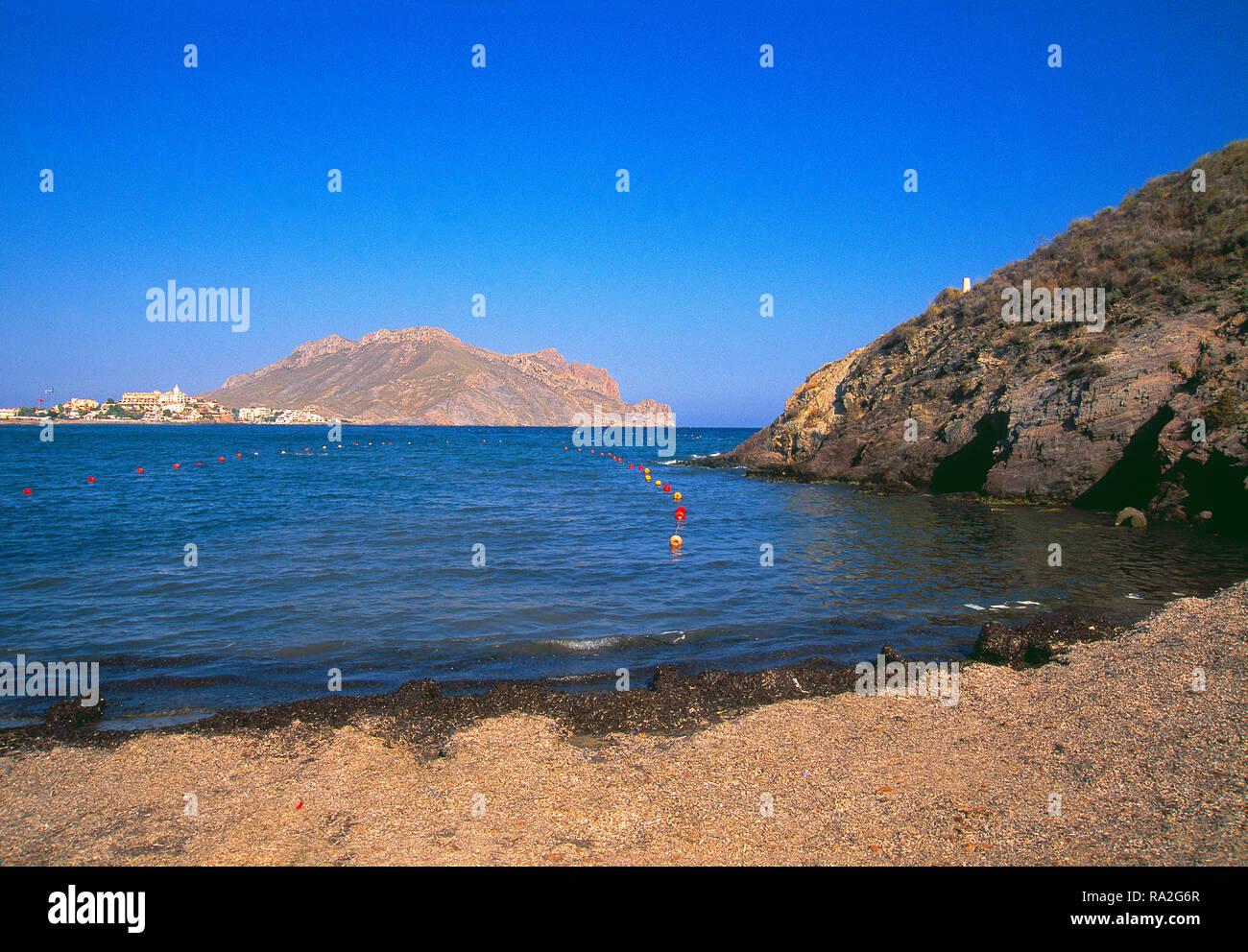 Beach. Cabo Cope y Puntas de Calnegre Nature Reserve, Murcia, Spain. - Stock Image