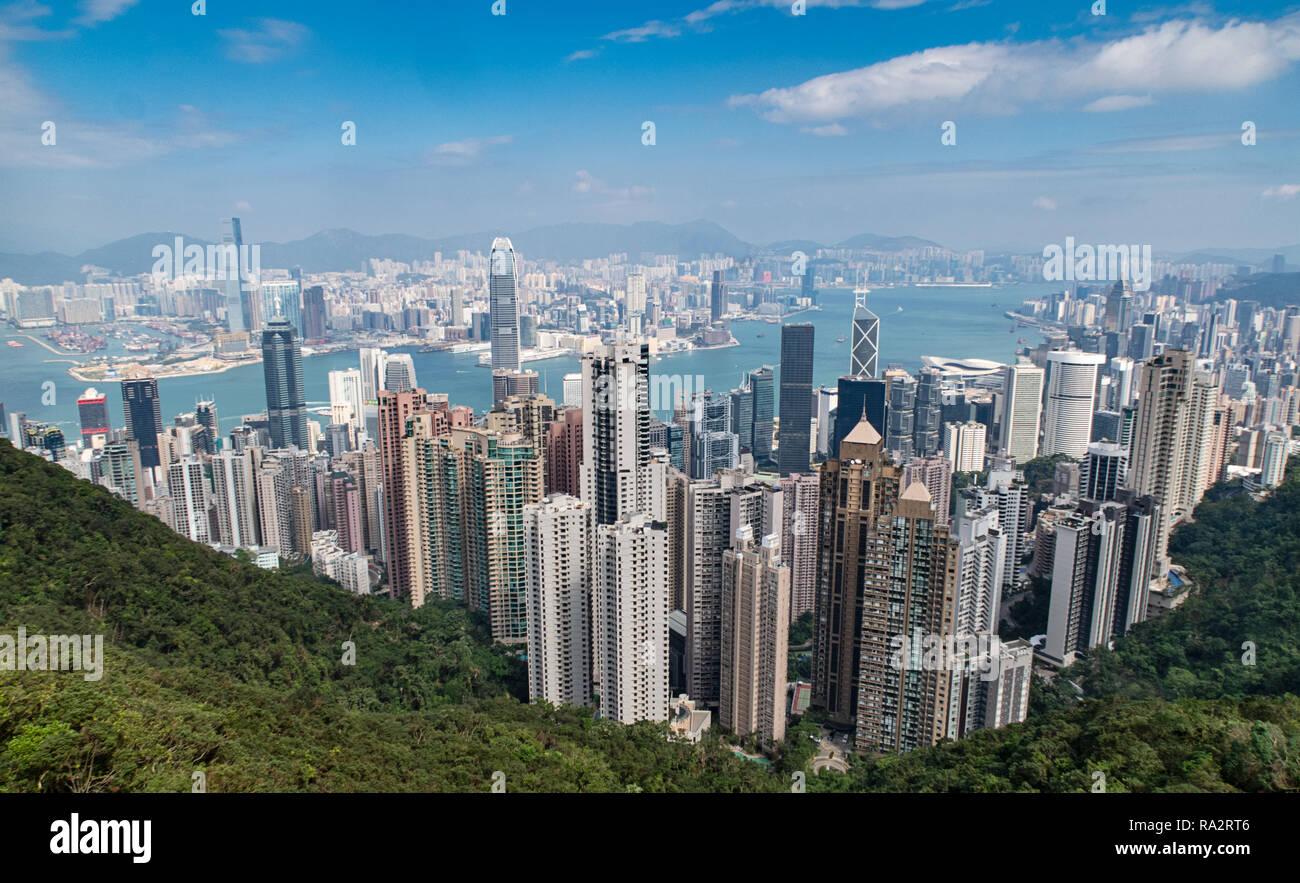 Hong Kong from the Peak - Stock Image