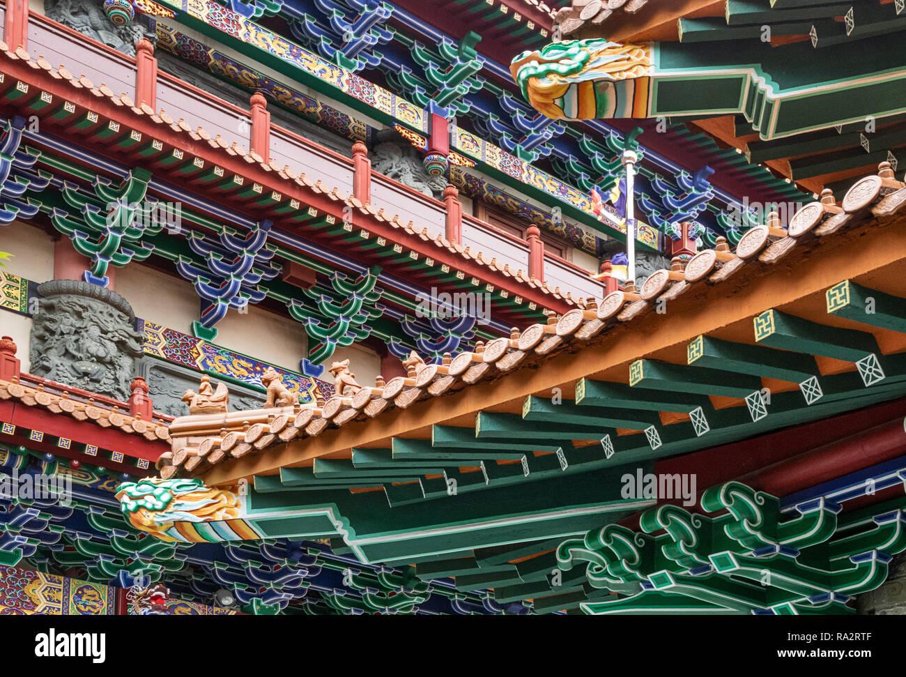 Po LIn Monastery Lantau Island, Hong Kong - Stock Image
