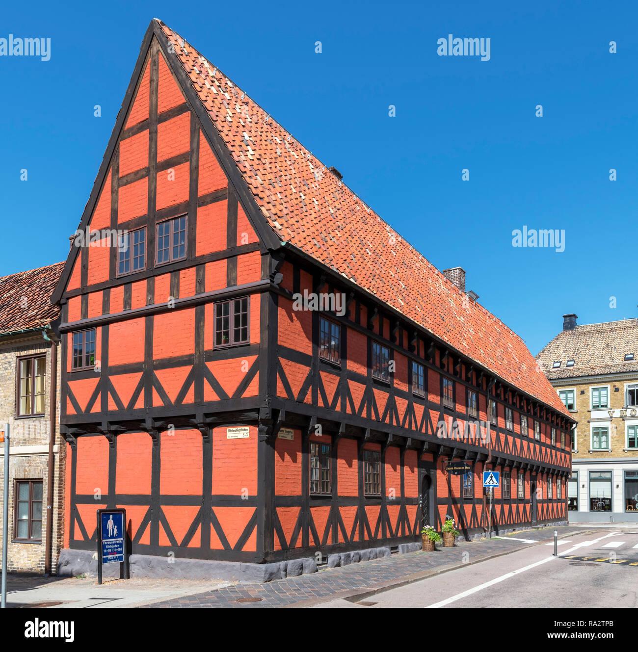 Historic 17th century Jacob Hansen s House (Jacob Hansens Hus) in the city  centre 3fc302a861755