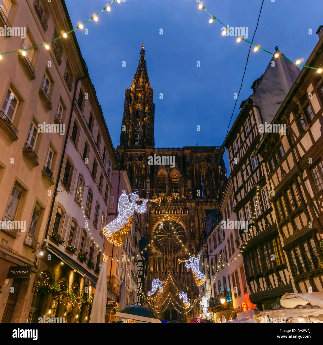 Strasbourg Holiday Decorations Stock Photos & Strasbourg