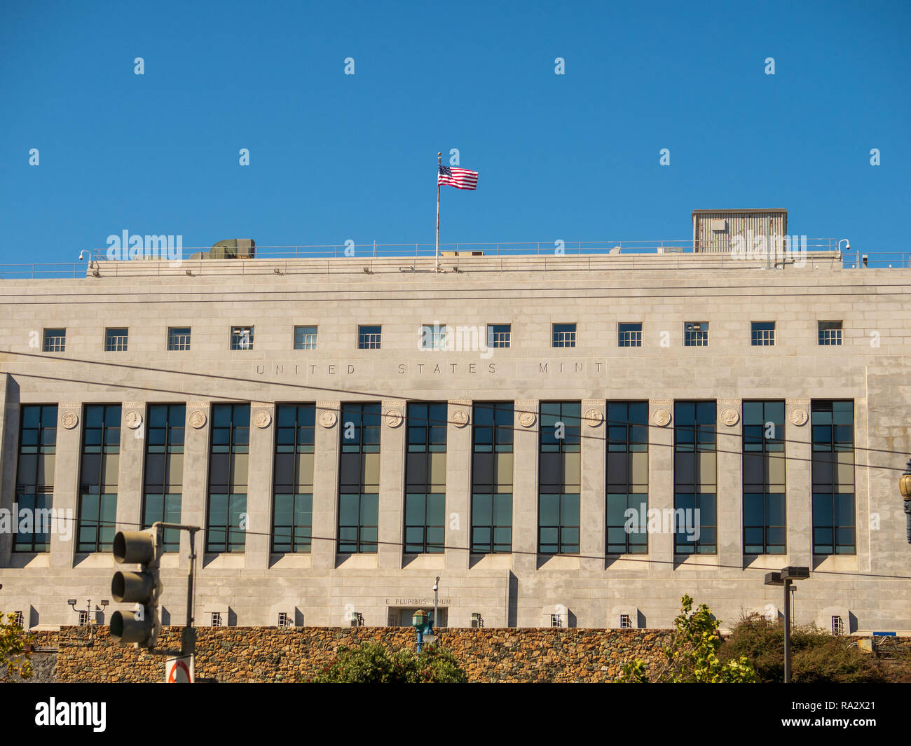 United States mint location in San Francisco - Stock Image