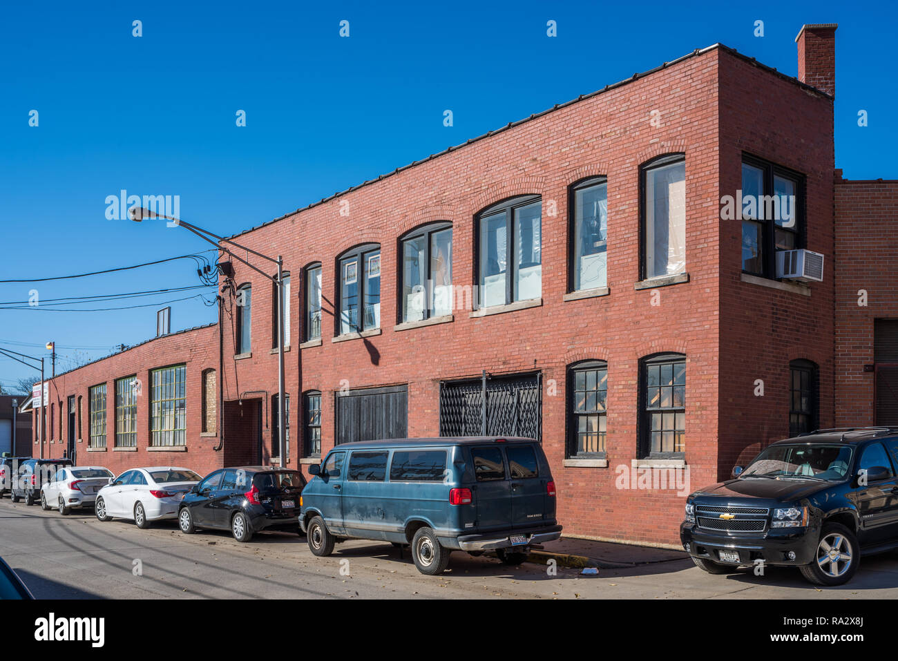 Industrial buildings in the Lincoln Park neighborhood - Stock Image