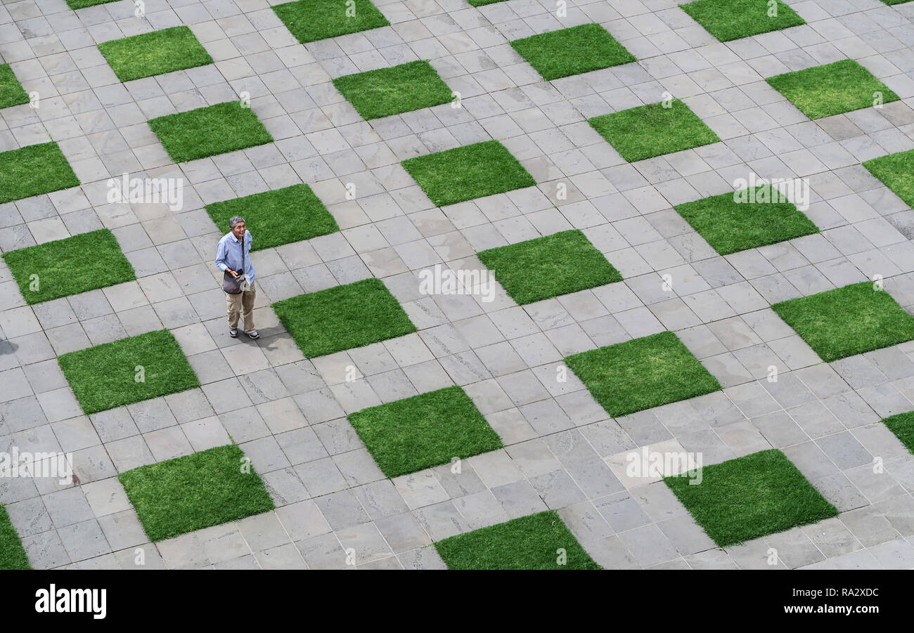 Landscaping at the Shrine of Remembrance in Melbourne. - Stock Image