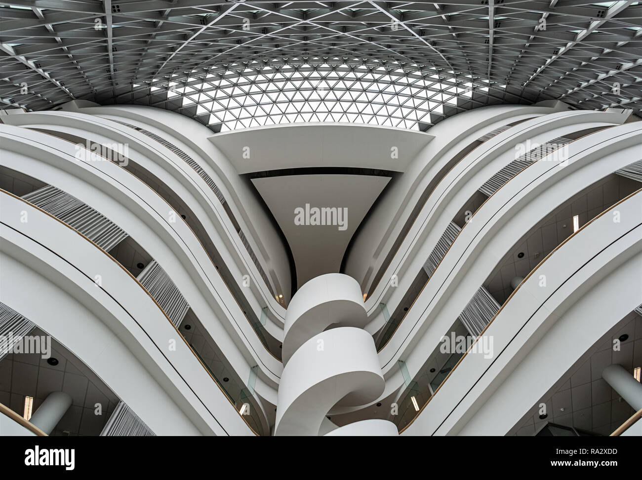 Atrium in the SAHMRI Building in Adelaide. The South Australian Health and Medical Research Institute - Stock Image